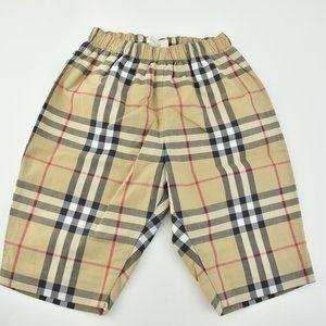 "BURBERRY: Beige ""Nova Check"", Cotton Shorts"